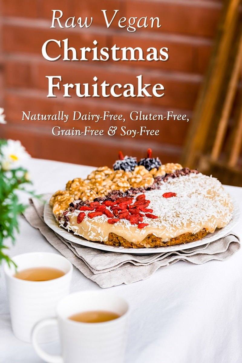 Raw Vegan Fruitcake Recipe - naturally dairy-free, gluten-free, grain-free, soy-free, and healthy!
