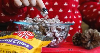 """Reindeer Chow Recipe (Dairy-Free, Gluten-Free, Nut-Free, Soy-Free, Allergy-Friendly, and Vegan) - it goes by """"Muddy Buddies"""" or """"Puppy Chow"""" in the off season!"""