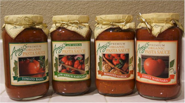 Amy's Vegan Pasta Sauces