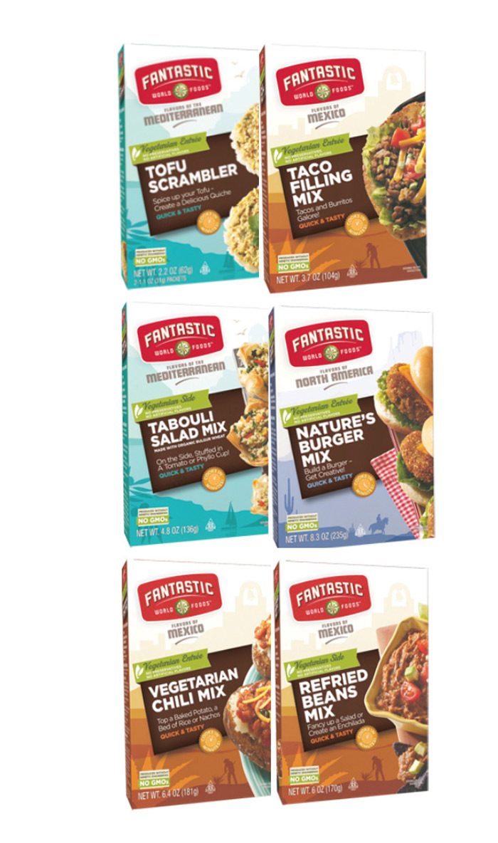 Fantastic World Food - Easy vegetarian food mixes for a quick meal!
