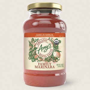 Amy's Organic Pasta Sauces Reviews and Info - Dairy-Free, Vegan, and made with an all-natural, from-scratch recipe. Also soy-free, nut-free, and made with extra-virgin olive oil