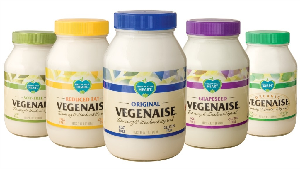 Follow Your Heart Vegenaise Reviews and Info - Vegan, Egg-Free Mayo in 6 varieties, including grapeseed oil, avocado oil, soy-free, and reduced fat