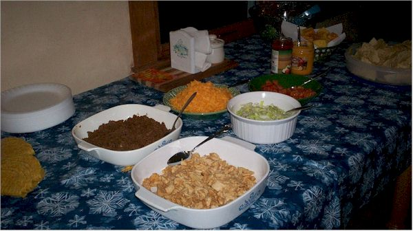 Mexican Food Spread