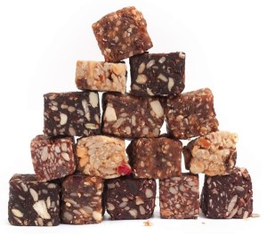 Chunks of Energy: Wholesome bites with lower commitment than a bar and available in bulk! All dairy-free + gluten-free; includes raw and vegan options.