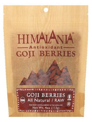 Himalania Goji Berries - A raw nutrient packed sweet snack.