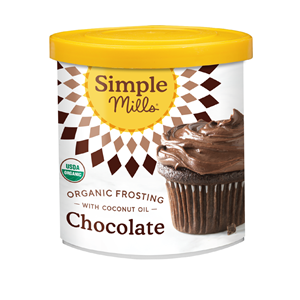 Simple Mills Frosting Reviews and Info - Organic, Dairy-Free, Vegan, and Lower in Sugar. Comes in Vanilla and Chocolate