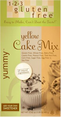 1-2-3 Gluten Free Yummy Yellow Cake Mix