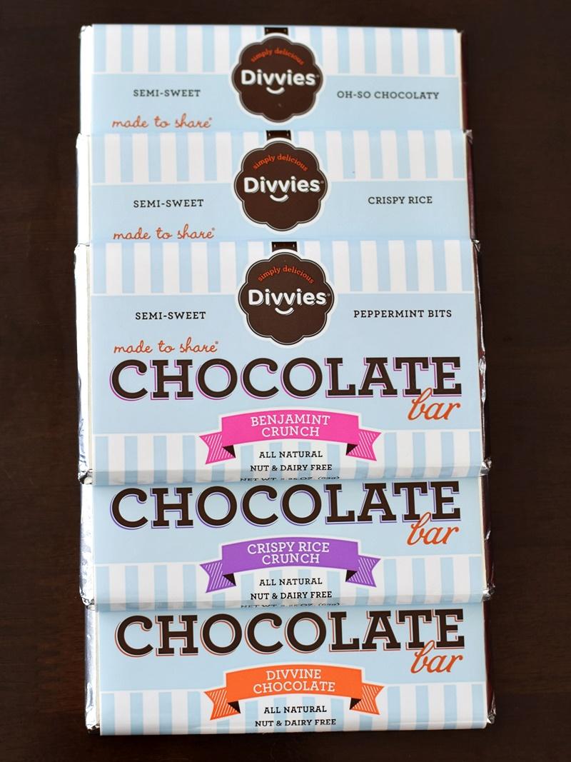Divvies Chocolate Bars - (dairy-free, nut-free, vegan)