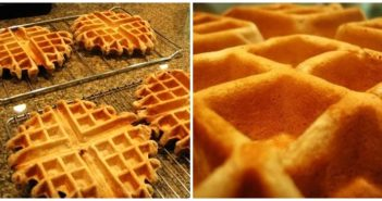 Sweet Wheat Vegan Waffles Recipe - a little wholesome, but wonderfully sweet and fluffy! Dairy-free, egg-free, nut-free, and optionally soy-free.