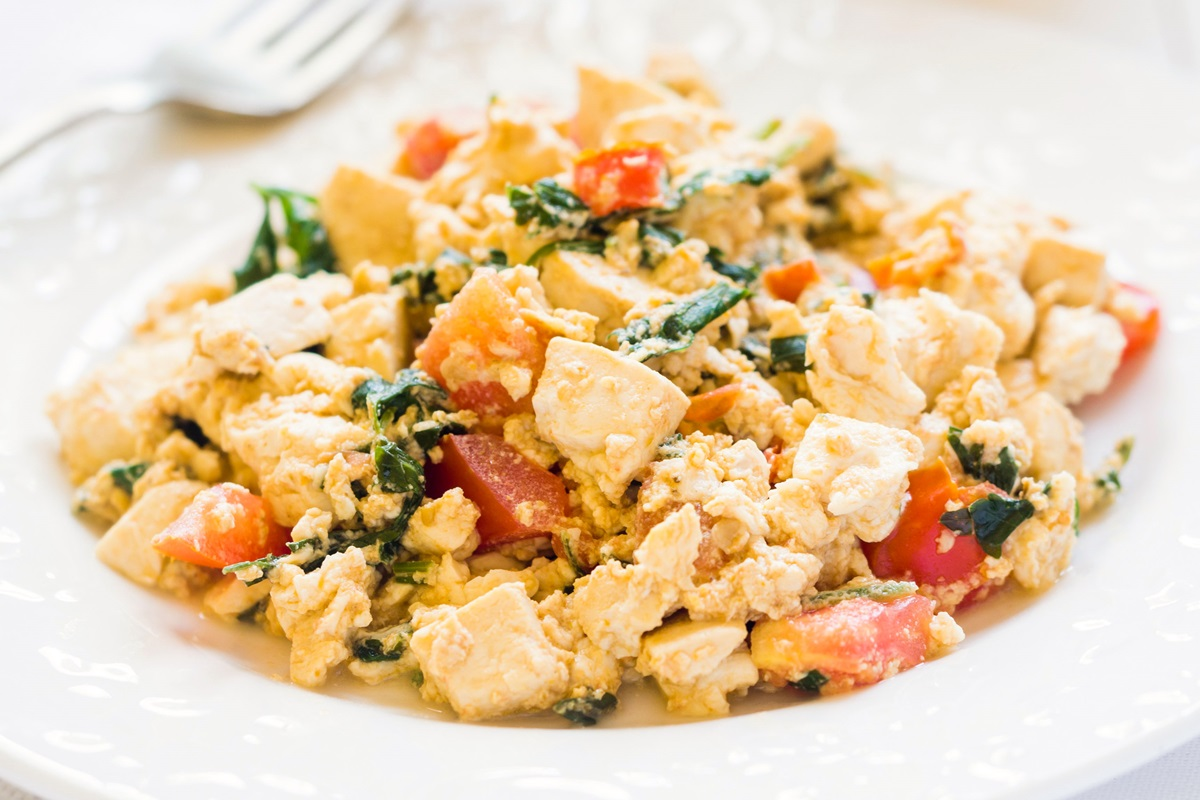 Oprah's Scrambled Tofu Recipe - Easy, Healthy, Plant-Based Breakfast adapted from Dr. Andrew Weil