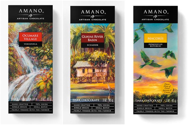 Amano Artisan Dark Chocolate Bars are Single Origin and Handcrafted