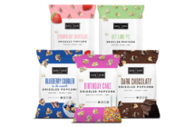 Safe + Fair Drizzled Popcorn Reviews and Info - Dairy-Free, Vegan, Gluten-Free, Nut-Free, and Soy-Free. In 5 dessert-inspired flavors. Pictured: All
