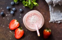 Berry Coconut Protein Shake Recipe - Dairy-free healthy smoothie meets milkshake