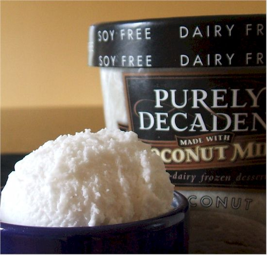 Purely Decadent made with Coconut Milk Ice Cream