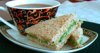 watercress tea sandwich