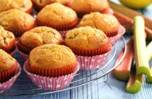 Rhubarb Muffins Recipe (dairy-free and optionally nut-free and vegan)