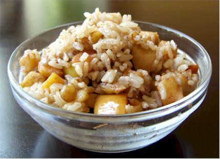 Nutty Apple Cinnamon Breakfast Rice - Go Dairy Free