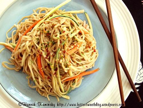 Vegan Sesame Soba Noodles