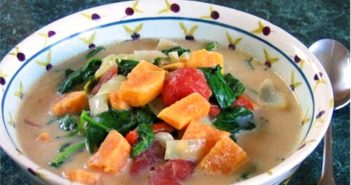 Vegan Callaloo Recipe - A Caribbean Classic made with Mainland, easy to find ingredients. Plant-based, dairy-free, gluten-free, and vegan-friendly.