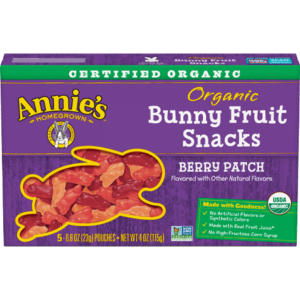 Annie's Bunny Fruit Snacks Reviews & Info (Organic & Vegan) - 10 varieties, all dairy-free, egg-free, gluten-free, nut-free, soy-free, and gelatin-free