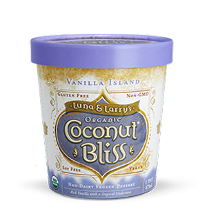 Coconut Bliss - coconut milk based ice cream available in 15 decadent flavours! You'd never know it's vegan!