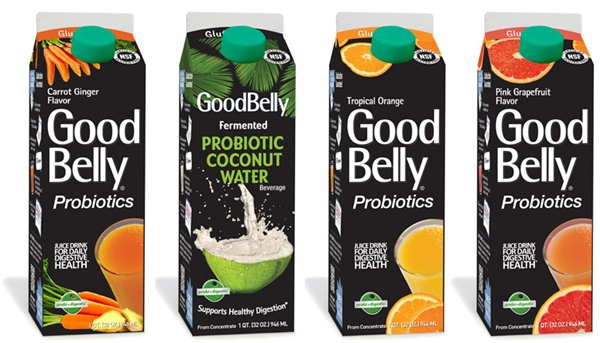 GoodBelly Gluten-Free Probiotic Juice Drinks (Vegan, Dairy-Free, Gluten-Free, Soy-Free)