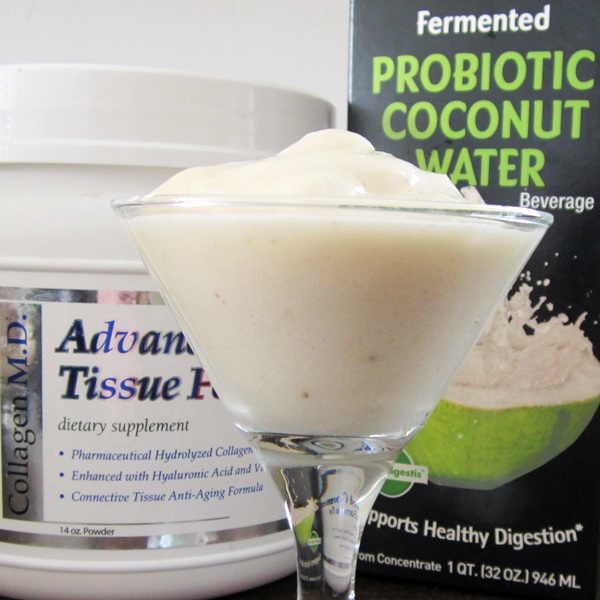 GoodBelly Probiotic Coconut Water Anti-Aging Dairy-Free Banana Smoothie