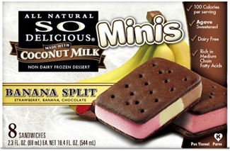 So Delicious Dairy Free Ice Cream Sandwiches - Banana Split Vegan Minis