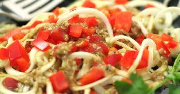 Raw Chinese Zucchini Noodles Recipe
