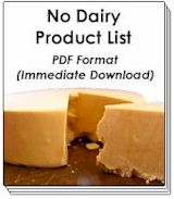Buy Now! - No Dairy Product List