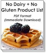 Buy Now! - No Dairy + No Gluten Product List