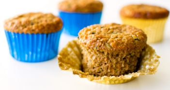 Zucchini Carrot Bran Muffins Recipe - a Healthy Family Favorite (dairy-free, nut-free with egg-free, vegan option #branmuffins #zucchinimuffins