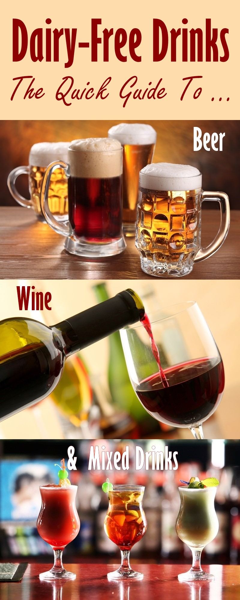 Dairy-Free Alcohol: A Quick Guide to Wine, Beer and Mixed Beverages
