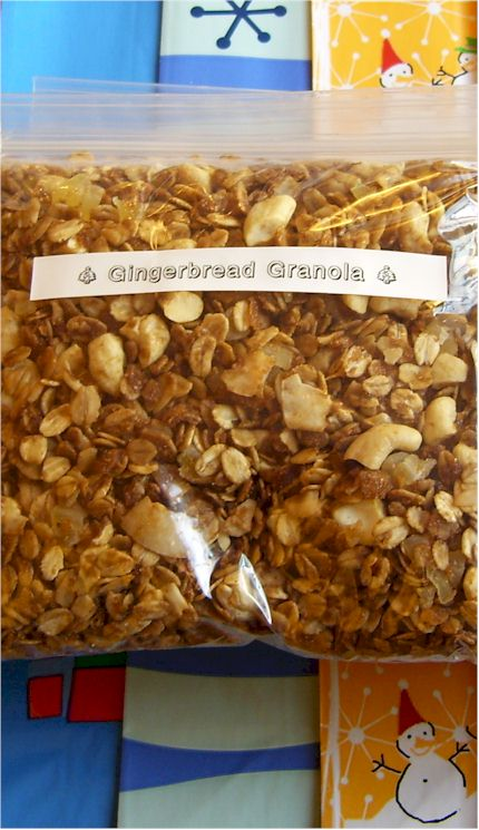 Gingerbread Granola - An Easy Dairy-Free Holiday Gift