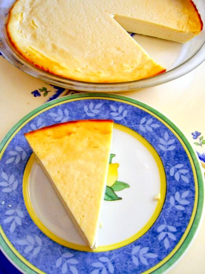 Vegan Lemon Cheesecake Recipe - Easy dairy-free dessert made with tofu and just 7 ingredients! Dairy-free, optionally gluten-free.