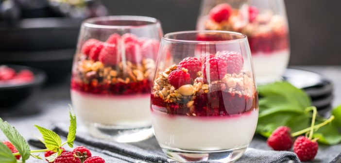 Dairy-Free Almond Milk Panna Cotta with Red Berries