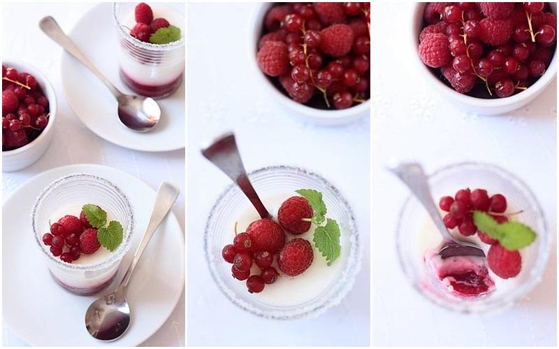 Dairy-Free Almond Milk Panna Cotta Recipe with Berry Puree on the bottom!