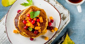 Dairy-Free Pumpkin Pancakes Recipe (makes good waffles too!) - Better than Martha's Recipe. Vegan / egg-free option included.