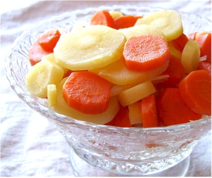 Lightly Glazed Carrot and Parsnip Coins Recipe for Good Fortune and Health in the New Year