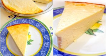 Vegan Lemon Cheesecake Recipe - Easy dairy-free dessert made with tofu and just 7 ingredients! Dairy-free, optionally gluten-free.