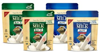 Better Than Milk Vegan Powders make Instant Soy Milk or Rice Milk - Dairy-Free, Gluten-Free, Nut-Free, Kosher Pareve