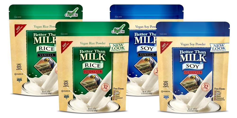 Better Than Milk Vegan Powders make Instant Soy Milk or Rice Milk - Dairy-Free, Gluten-Free, Nut-Free, Kosher Pareve