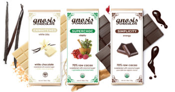 Gnosis Raw Chocolate (review) - dairy-free, mostly vegan, raw high quality chocolate bars available in a ton of unique flavors.