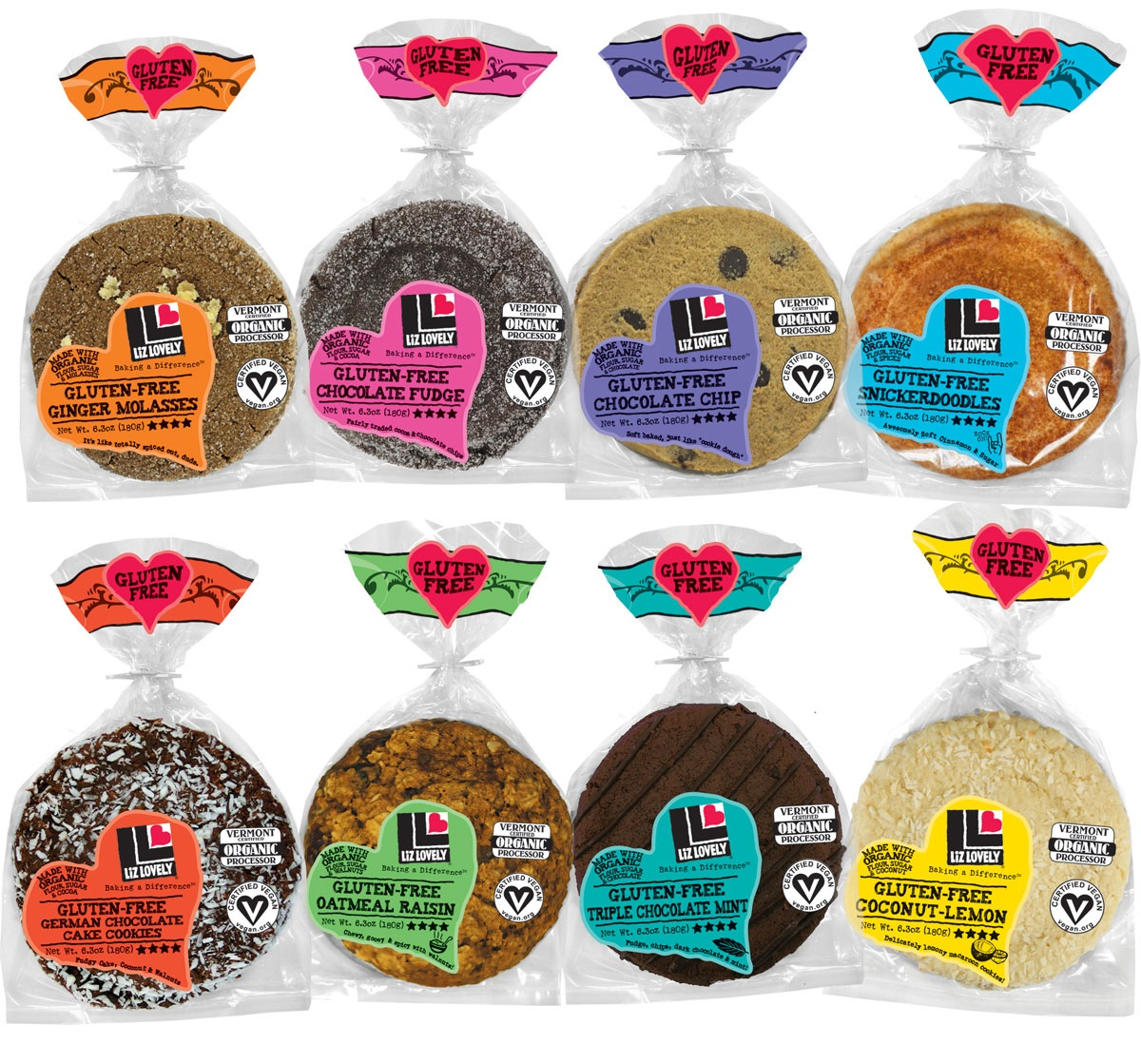 Liz Lovely Gluten Free Cookies - Vegan, Kosher Parve BIG Soft Cookies (Review)