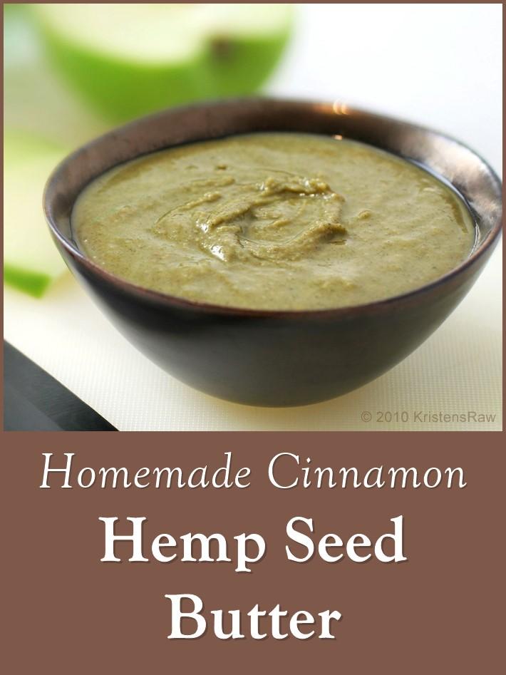 Cinnamon Hemp Seed Butter Recipe (dairy-free, gluten-free, nut-free, vegan)