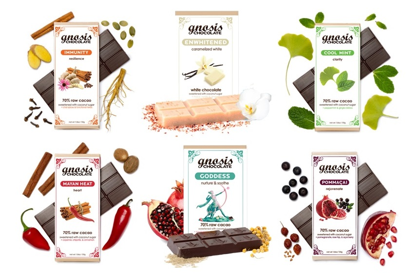 Gnosis Raw Chocolate Bars - Reviews and Info - all vegan and dairy-free, healthy, tons of varieties