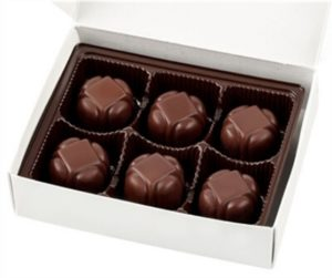 No Whey Chocolate Truffles Reviews and Information - vegan, gluten-free, dairy-free, nut-free, and soy-free chocolatier that makes a variety of chocolates year round. Great for gifts. Pictured: Mint Creams