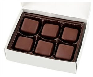 "No Whey Chocolate Truffles Reviews and Information - vegan, gluten-free, dairy-free, nut-free, and soy-free chocolatier that makes a variety of chocolates year round. Great for gifts. Pictured: ""Milk"" Fudge Truffles"