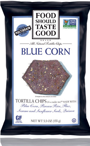 Food Should Taste Good Tortilla Chips - certified gluten-free, vegan, kosher tortilla chips made with simple ingredients and available in a variety of unique flavors.