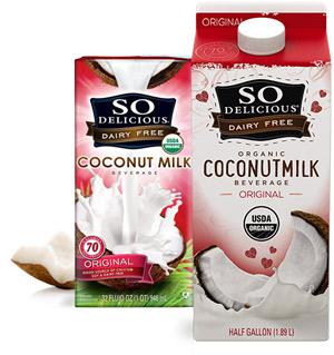 So Delicious Coconut Milk - A creamy dairy-free milk alternative available in 4 flavors.